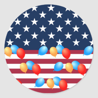 Fourth of July American Flag Gifts for Kids Round Sticker