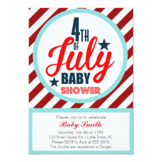 Fourth of July Baby Shower Card