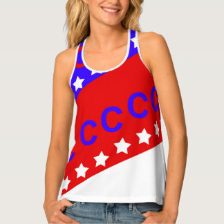 Fourth of July Baseball Tank Top