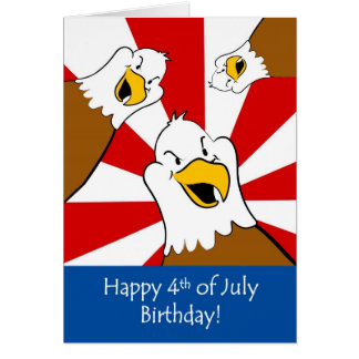 Fourth of July Birthday Celebration Greeting Card