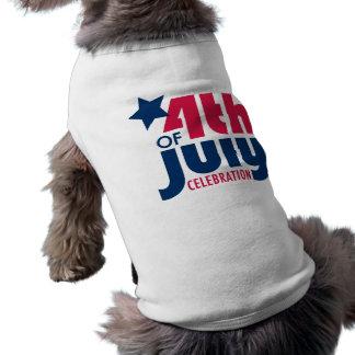 Fourth of July Celebration Dog T-Shirt