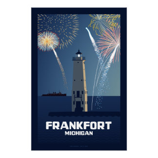 Fourth of July Celebration, Frankfort, Michigan Li Poster