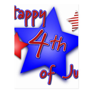 Fourth of July Celebration Postcard