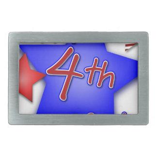 Fourth of July Celebration Rectangular Belt Buckle