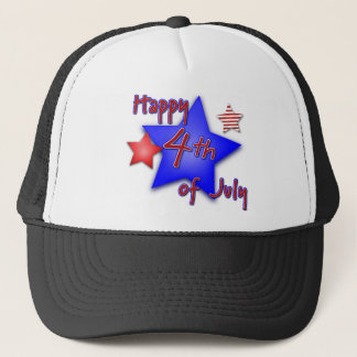 Fourth of July Celebration Trucker Hat