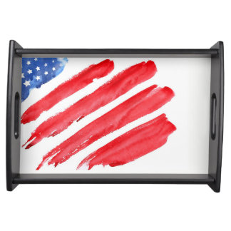 fourth of July colorful barbecue Serving Tray