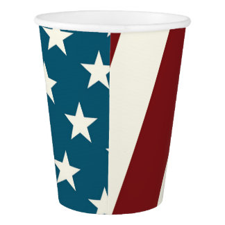 Fourth of July Cups- Red White and Blue Paper Cup