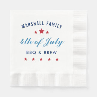 Fourth of July | Custom Paper Napkins