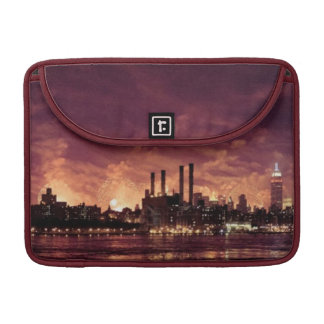 Fourth of July Fireworks behind Manhattan Sleeve For MacBook Pro