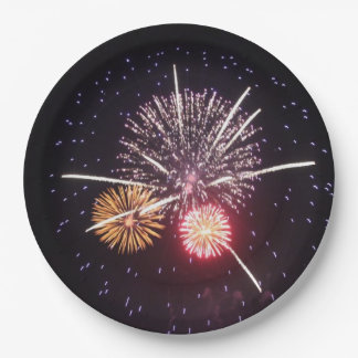 Fourth of July Fireworks Paper Plates