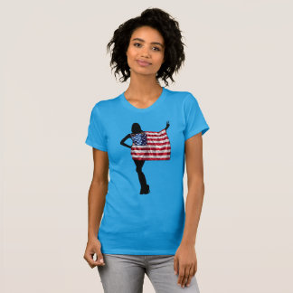 Fourth of July Flag and Stars T-Shirt