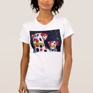 Fourth of July Freedom & Liberty Dalmatians T-Shirt