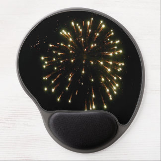 Fourth of July Gold Fireworks Burst Gel Mouse Pad