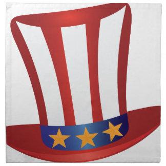 Fourth of July Hat Gold Stars Illustration Napkin