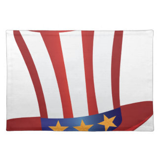 Fourth of July Hat Gold Stars Illustration Placemat
