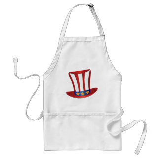 Fourth of July Hat Gold Stars Illustration Standard Apron