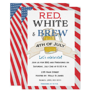 Fourth of July invitation Beer