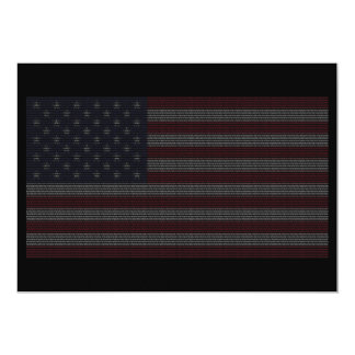 Fourth of July Invites ~ Flag Made of Numbers 1976