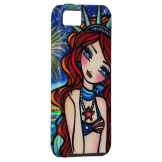 Fourth of July Mermaid Fantasy Art iPhone Case