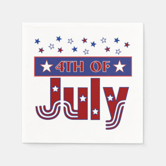 Fourth of July Paper Napkins