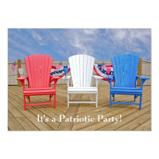 """Fourth of July party 5"""" X 7"""" Invitation Card"""