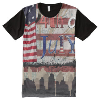 Fourth of July (Patriotic) All-Over-Print T-Shirt