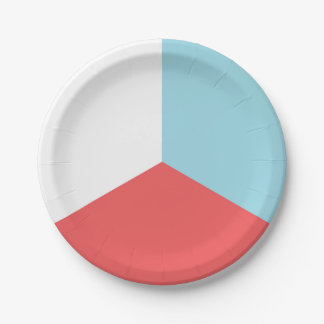 Fourth of July Red White Blue Paper Plate