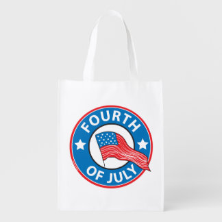 Fourth of July Reusable Grocery Bag