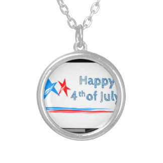 Fourth-of-July Silver Plated Necklace