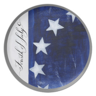 Fourth of July Starry Field Plate