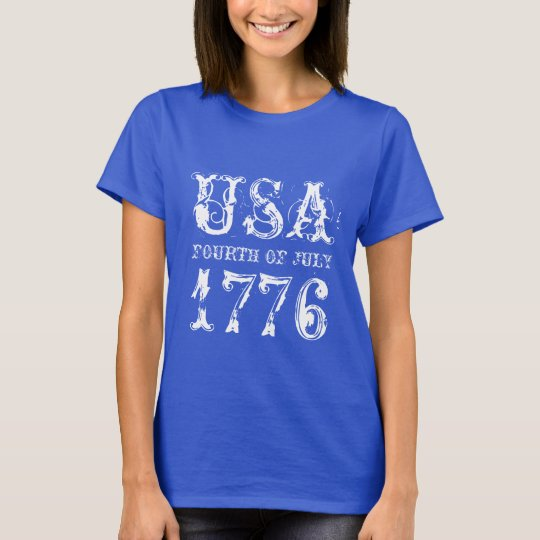 Fourth of July t shirt for women | USA 1776