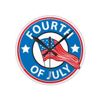 Fourth of July Wall Clocks