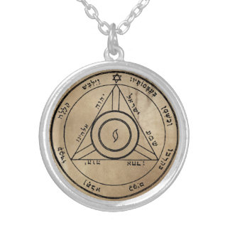 Fourth Pentacle of Saturn Silver Plated Necklace