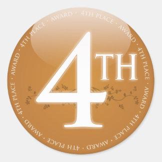 Fourth Place (4th) Award Round Sticker