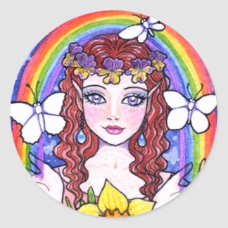 Fower Fairy Rainbow Stickers by Ann Howard