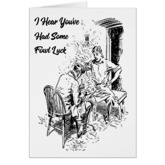 'Fowl' Luck Vintage Greeting Card