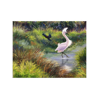 """""""Fowl Territory"""" Gallery Wrapped Canvas Print"""