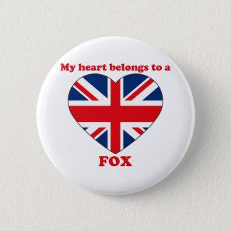 Fox 2 Inch Round Button