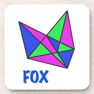 FOX, abstract, stained glass, gifts, t shirts Drink Coaster