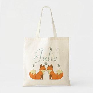 Fox Add Name Tote Bag