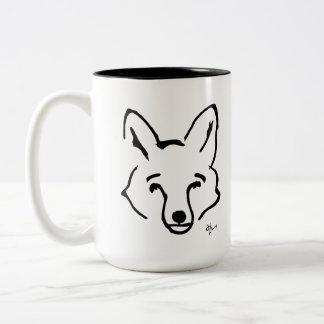 Fox - Adolf Lorenzo Two-Tone Coffee Mug