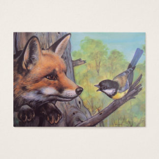 fox and bird business card