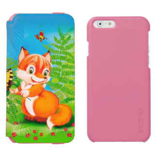 fox and butterfly incipio watson™ iPhone 6 wallet case