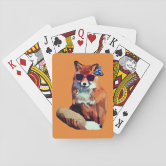 Fox and Butterfly  Playing Cards