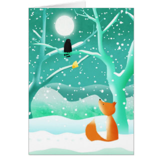 Fox and crow - greeting cards