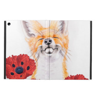 fox and poppies case for iPad air