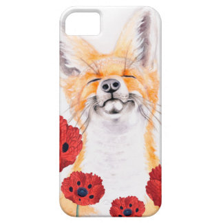 fox and poppies iPhone 5 case