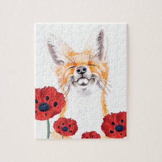 fox and poppies jigsaw puzzle