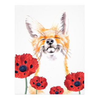 fox and poppies letterhead