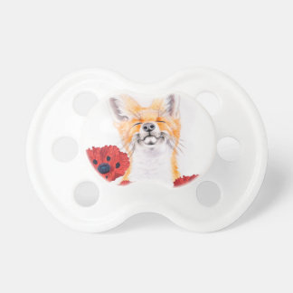 fox and poppies pacifier